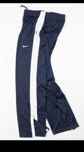 NIKE🔮Mesh Side Button Leg Track Pants Blue/White